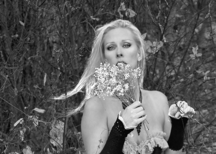 Forest Lady b and w
